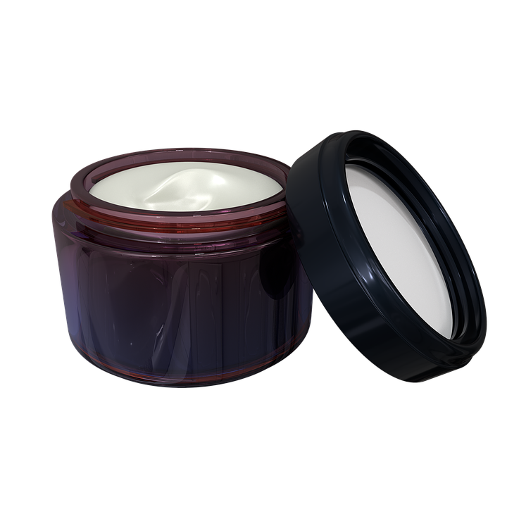 topical cream in container